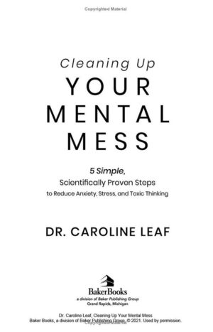 """Layout Design of """"Cleaning Up Your Mental Mess"""" book (paperback)"""